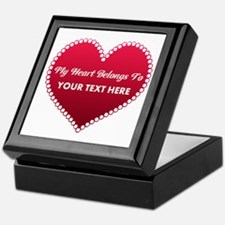 Custom Heart Belongs To Keepsake Box