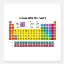 "Periodic Table Of Elements Square Car Magnet 3"" x"
