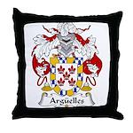 Arguelles Family Crest Throw Pillow