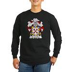 Arguelles Family Crest Long Sleeve Dark T-Shirt