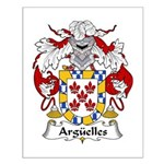 Arguelles Family Crest Small Poster