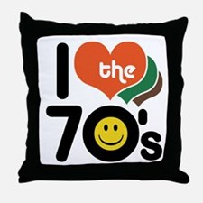 I Love the 70's Throw Pillow