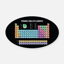 Periodic Table Of Elements Oval Car Magnet