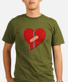 Funny Heart health Organic Men's T-Shirt (dark)