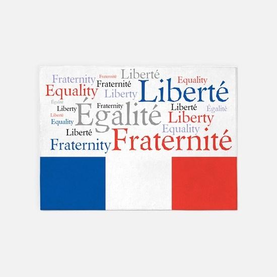Celebrate France 5'x7'Area Rug