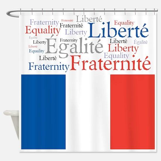 Celebrate France Shower Curtain