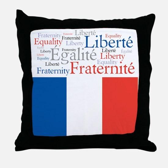 Celebrate France Throw Pillow