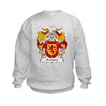 Arevalo Family Crest  Kids Sweatshirt