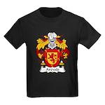 Arevalo Family Crest  Kids Dark T-Shirt