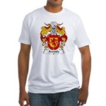 Arevalo Family Crest  Fitted T-Shirt