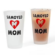 Samoyed Mom Drinking Glass