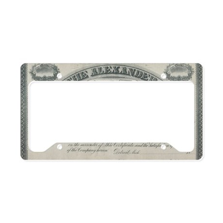 Alexander manufacturing stock license plate holder by for Alexander manufacturing company