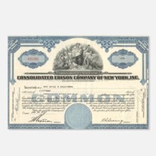 Con Ed stock certificate Postcards (Package of 8)