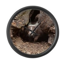 baby skunk Large Wall Clock