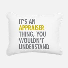 Appraiser Thing Rectangular Canvas Pillow