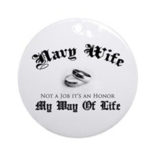 Navy Wife: Not a Job Ornament (Round)