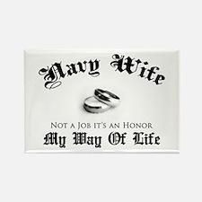 Navy Wife: Not a Job Rectangle Magnet