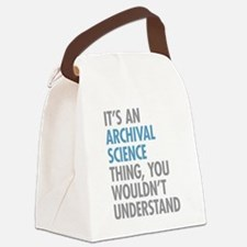 Archival Science Thing Canvas Lunch Bag