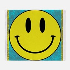Happy FACE Smiley Throw Blanket