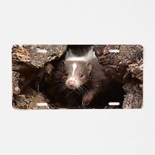 baby skunk Aluminum License Plate