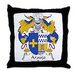 Araujo Family Crest Throw Pillow