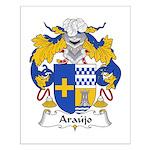 Araujo Family Crest Small Poster