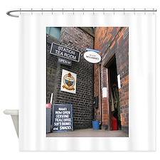 Railway station tea room c1943 Shower Curtain