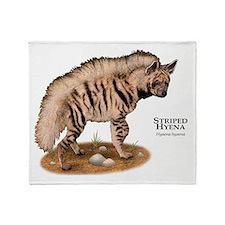 Striped Hyena Throw Blanket
