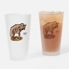 Striped Hyena Drinking Glass