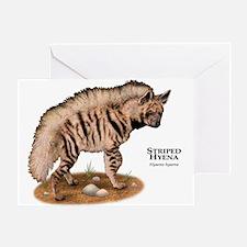 Striped Hyena Greeting Card