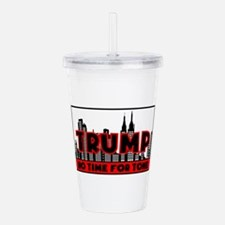 Cute Fox news Acrylic Double-wall Tumbler