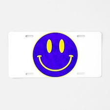 Happy FACE vintage blue Aluminum License Plate