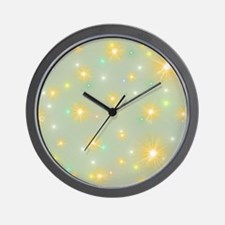 small abstract colored pattern with fin Wall Clock