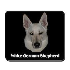 White German Shepherd Mousepad