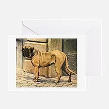 Bullmastiff Illustration Greeting Card