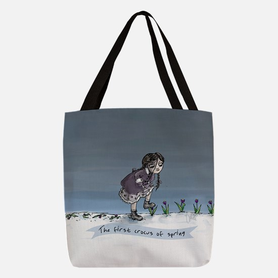 First Crocus Of Spring Polyester Tote Bag
