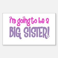 guess what big sister Rectangle Decal