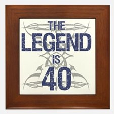 Legend 40th Birthday Framed Tile