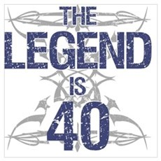 Legend 40th Birthday Poster