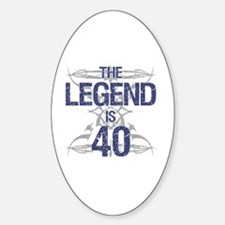Legend 40th Birthday Decal