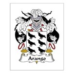Arango Family Crest  Small Poster