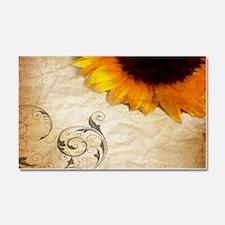 girly swirls floral sunflower Car Magnet 20 x 12