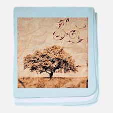 romantic landscape oak tree baby blanket