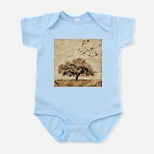 romantic landscape oak tree Body Suit