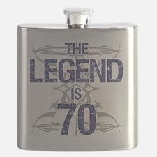 Legend 70th Birthday Flask