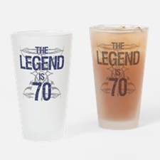 Legend 70th Birthday Drinking Glass