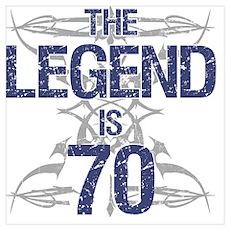 Legend 70th Birthday Poster