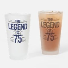 Legend 75th Birthday Drinking Glass