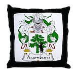 Aramburu Family Crest Throw Pillow