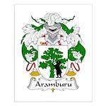 Aramburu Family Crest Small Poster